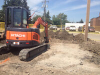 Mini excavator and operator for hire