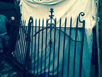 Victorian iron gates