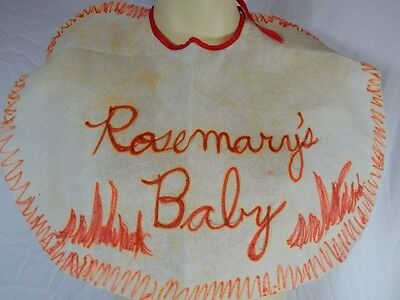DIY Rosemarys Baby Costume Bib Horror Movie Halloween Theater Play Acting Actor