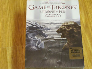 GAME OF THRONES COMPLETE 1 TO 7 SEASONS 34-DISC DVD BOXSET NEW
