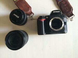 Nikon D90 12.3 MP Digital SLR Camera with 35 mm portrait lens