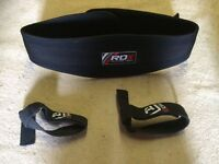 RDX WEIGHT LIFTING SUPPORT BELT WITH WRIST STRAPS