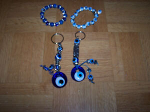 EVIL EYE - 2 braclets and set of key chains from Arizona