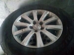 Mazda CX-7 2008 4 hollow rims with winter tires
