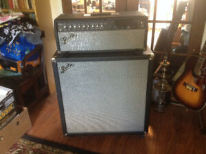 Fender Cyber Twin Head with Showman 412S Stereo Cabinet for sale