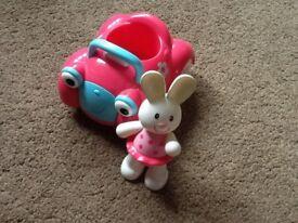 Rosie Rabbit and her car (ELC)