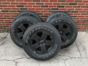 5 Bridgestone Dueler A/T tires and rims - 255/70/r18 - 80% tread