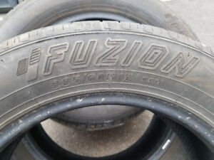 Set of 4 tires 225/60R17 Fuzion Touring  $200