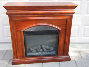 Cherry Electric Fireplace-Monique's furniture