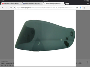 Looking for a tinted hjc visor