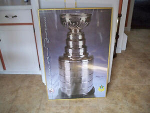 5 autographs from Montreal 1958 Stanley cup winners, poster