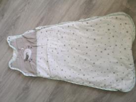 Baby sleep bag and matching cot bumper