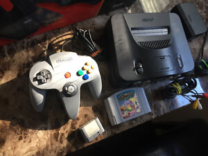 Nintendo 64 system and wheel