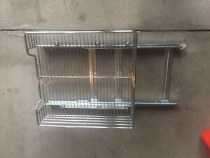 Kitchen cabinet metal slide outs