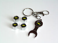 Car Wheel Tire Valve Caps with Keychain for Chevrolet