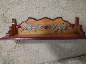 Burgundy shelf