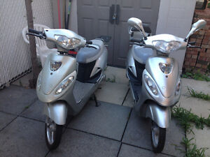 2 electric scooters 36 volts