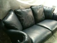 3 str leather sofa