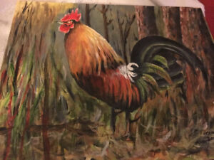 Great rooster painting
