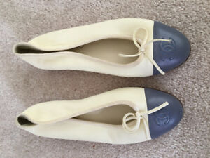 Authentic great condition chanel ballerina flats 37 $525