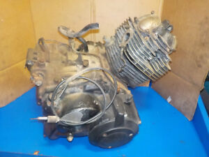 YAMAHA BIG BEAR 350 SE 1999 ENGINE MOTOR HAS DAMAGE ,GOOD RUNNER