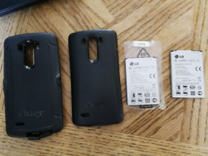 LG3 Otter Cases and 2 batteries.
