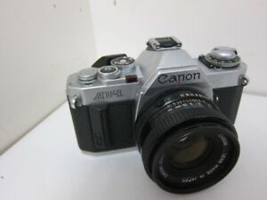Canon AV-1,  35mm Film Camera, with FD F1.8/50mm Lens