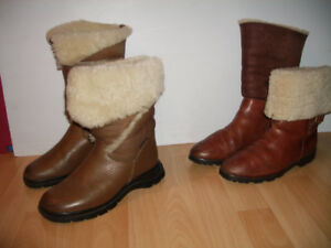 """"""" Timberland """" or """" BLONDO """" boots mouton / shearling --- size 7"""