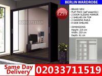 BRAND NEW 215cm Berlin 2 Door Sliding mirror 203cm get your order today South Acworth