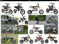 wanted pit bikes dirt bikes quad bikes wanted