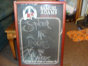 samuel adams beer advertising board