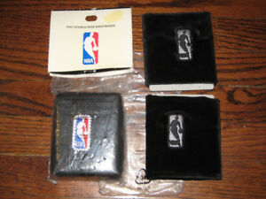 NBA LICENSED BLACK SWEATBANDS WRISTBANDS NEW VELOUR RHINESTONE
