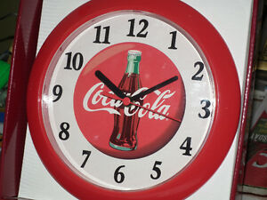 COCA - COLA  WALL CLOCK REGISTERED NEW OLD STOCK .