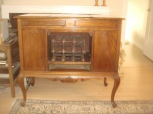 WINE- LIQUOR CABINET- ANTIQUE