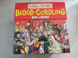 Horrible Histories Blood-curdling Box Of Books 20 Book Box Set-Opened