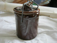 Vintage Stoneware Cheese Container