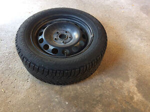 Gislaved winter tire and steel rim set (x4) Windsor Region Ontario image 2