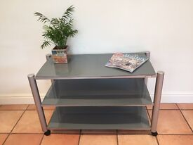 Soundstyle Glass and Metal Large TV Stand