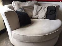 Swivel Cuddle Chair - Grey - great condition