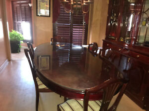 6 Chair dining table with cabinet