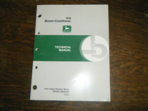 John Deere 910 Mower Conditioner Technical manual