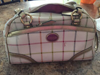 COACH white & gold leather handbag *great condition