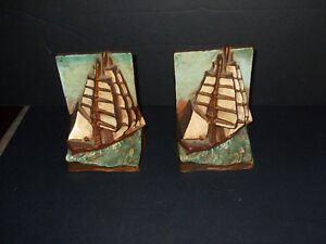 Vintage Cast Iron -- Nautical Ship Book Ends Kitchener / Waterloo Kitchener Area image 3