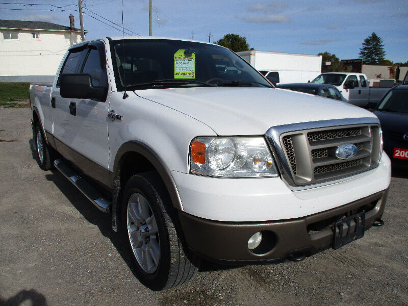 2006 ford f 150 king ranch crew cab leather roof 4x4 used cars trucks oshawa durham. Black Bedroom Furniture Sets. Home Design Ideas