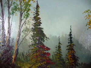 """Oil Painting by Listed Artist Paul Hyttinen """"A Forest Path"""" 1950 Stratford Kitchener Area image 6"""