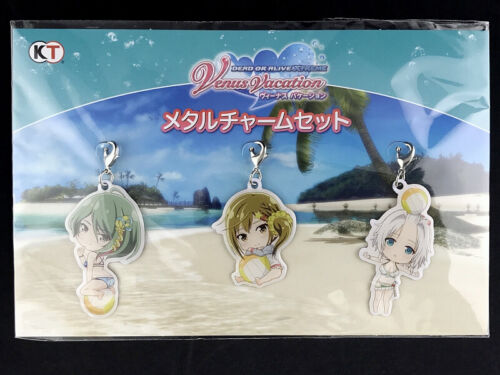 Dead or Alive Xtreme Venus Vacation Tamaki & Misaki & Luna Metal Charm set New