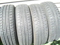 TIRES (set of 4) MOTOMASTER TOURING LXR 185/75R14 C'W 5 HOLE WH