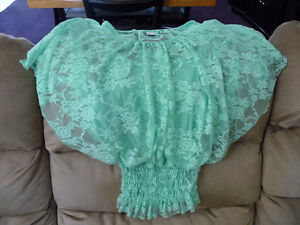 For Sale...Pretty green lace girls top