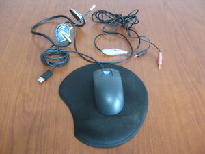 Headphone Microphone attachment,Mouse & Pad