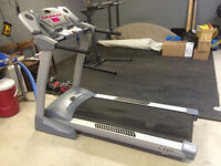 Treadmill with folding feature for easy storage
